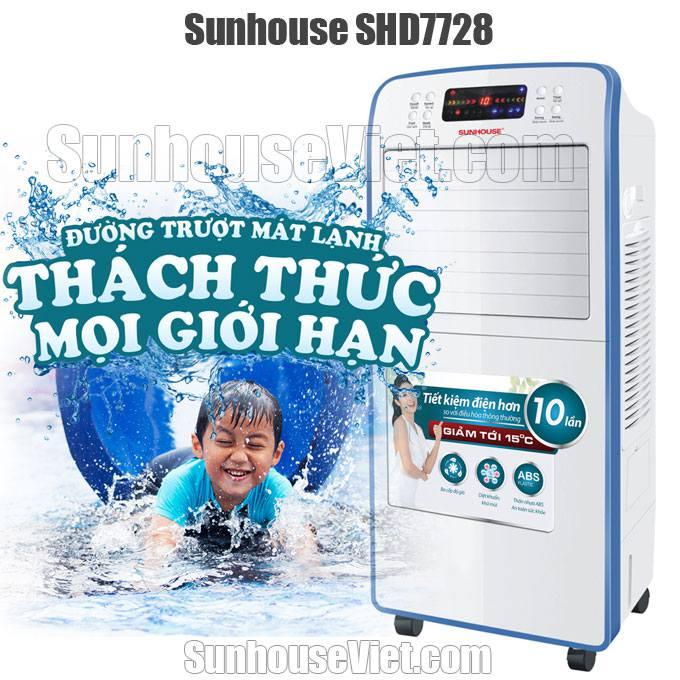 Quạt điều hòa Sunhouse SHD7728 mát hơi nước giảm nóng nhanh