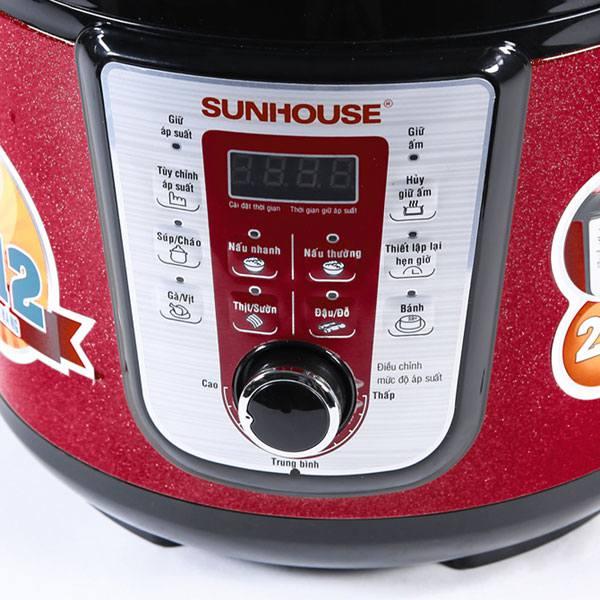Nồi áp suất điện tử đa năng Sunhouse SHD1757 - SHD1767 chức năng điều khiển