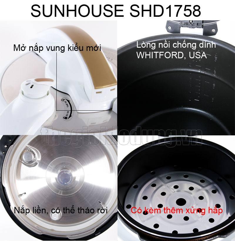 Nồii áp suất điện tử đa năng Sunhouse SHD1758 - Đặc điểm nổi bật