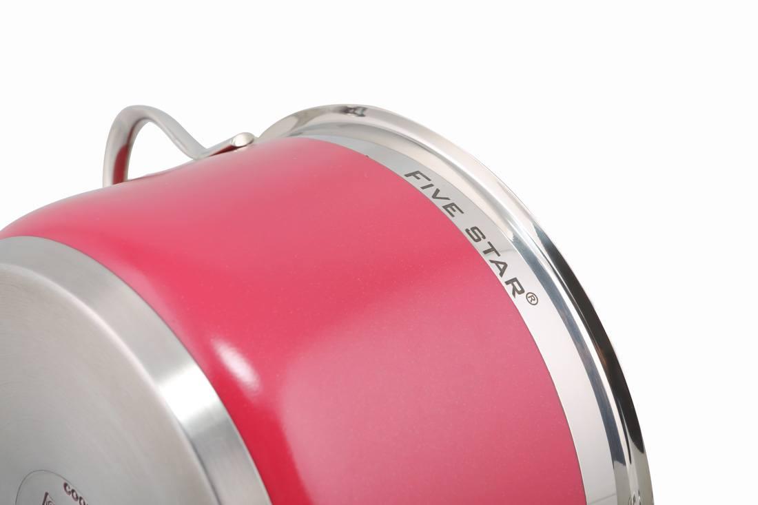 Bộ nồi FiveStar màu 4 chiếc màu hồng dịu nhẹ