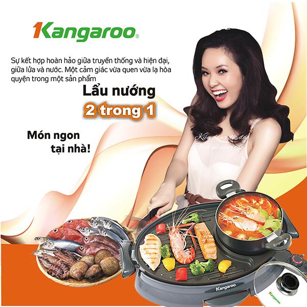 Bữa tiệc ngon lành với bếp lẩu nướng Kangaroo KG 96