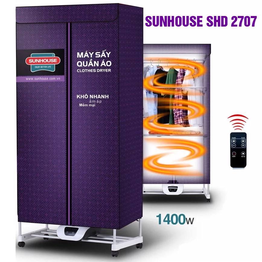 Tủ sấy quần áo to lớn nhất Sunhouse SHD2707