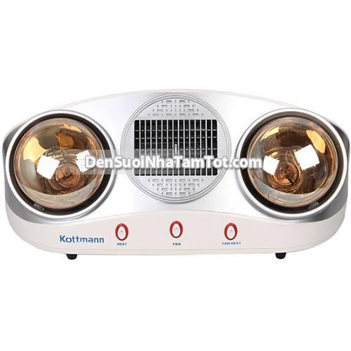 Đèn sưởi nhà tắm kèm quạt gió nóng Kottmann-K2B-HW-S