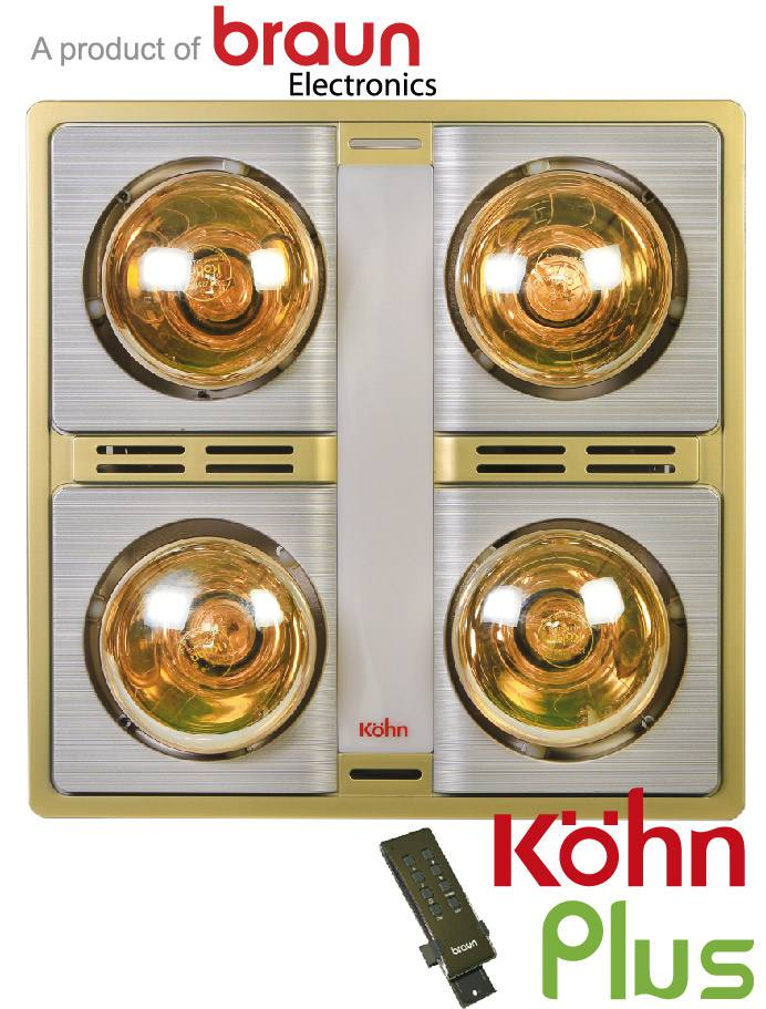 Đèn sưởi nhà tắm Kohn KN04GR