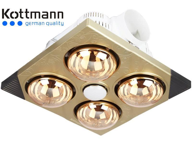 Đèn sưởi nhà tắm âm trần Kottmann K4BT