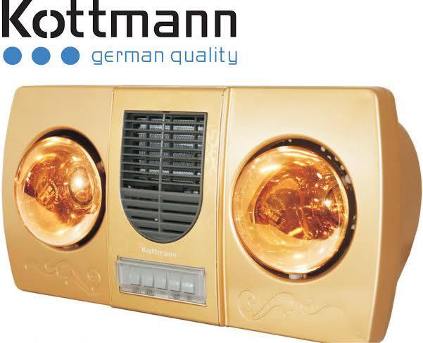 Đèn sưởi nhà tắm Kottmann K2B-HW-G thổi gió nóng