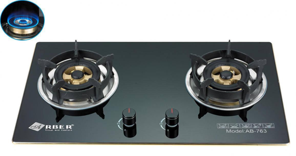 Bếp gas âm Arber AB - 762 hai bếp nấu lắp âm