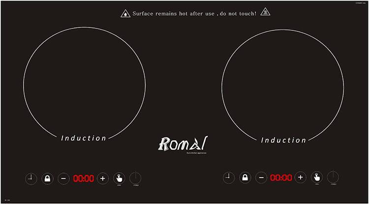 Bếp điện từ đôi ROMAL RI 23C điều khiển cảm