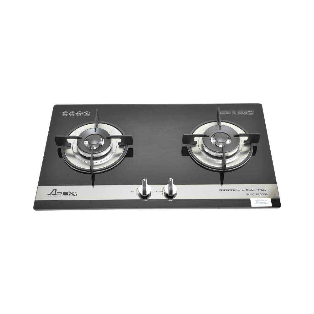 Bếp gas Sunhouse APB8810 hai bếp nấu âm kính cao cấp