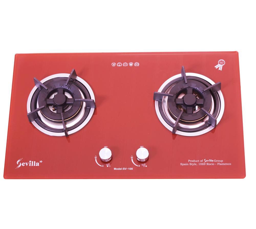 Bếp gas Sevilla SV- 108 RED đôi lò nấu đặt chìm