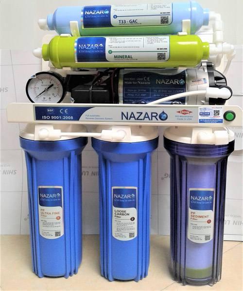 Máy lọc nước NAZARO Z1 có 8 cấp lọc