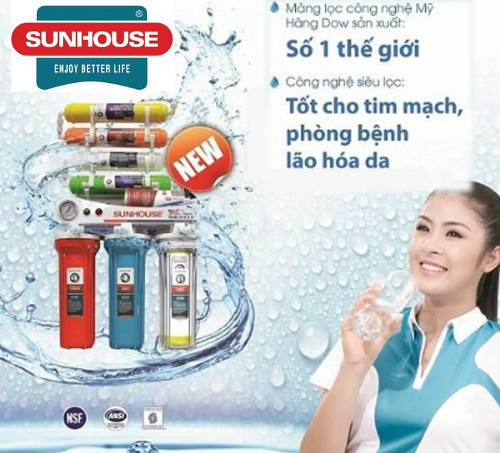 Máy lọc Sunhouse sử dụng màng lọc RO số 1 của Mỹ, tạo ra nguồn nước uống trực tiếp mà không cần đun sôi