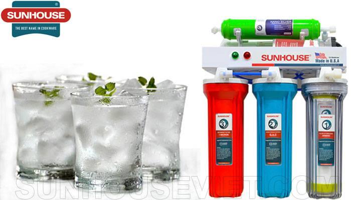 Máy lọc nước Sunhouse SHR8835 5 lõi lọc, màng lọc RO đạt chuẩn nước uống trực tiếp