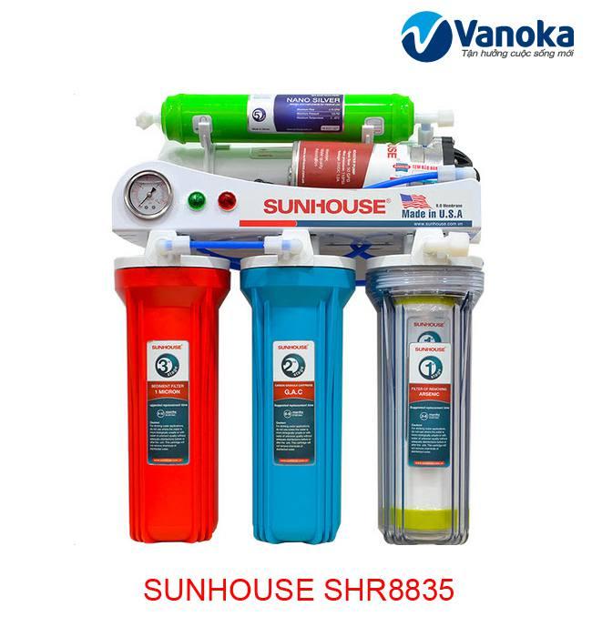 Máy lọc nước Sunhouse SHR8835 5 lõi lọc, màng lọc RO chất lượng tốt