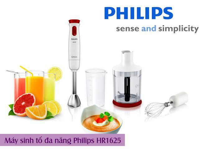 Máy xay cầm tay Philips HR1625 mạnh mẽ, chính hãng, công suất 650W