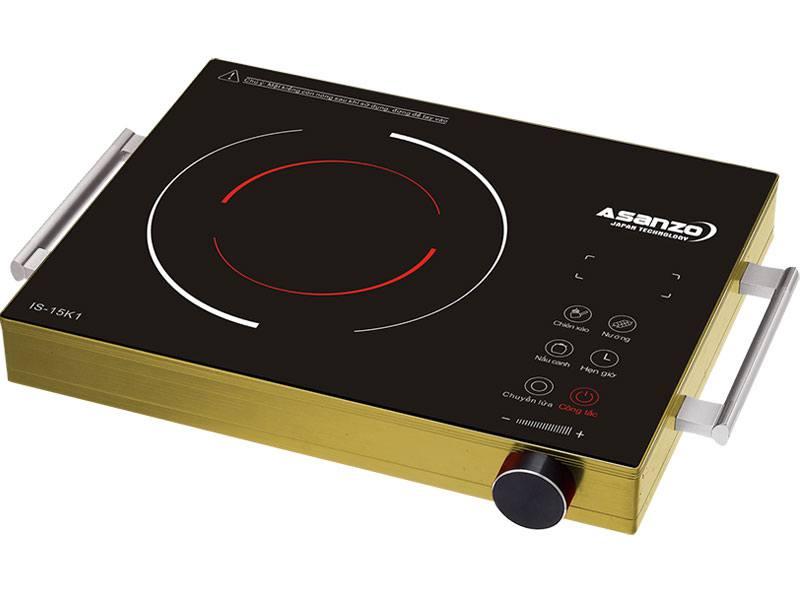 Bếp hồng ngoại Asanzo IS1-5K1 điều khiển cảm ứng, bề mặt kính cường lực