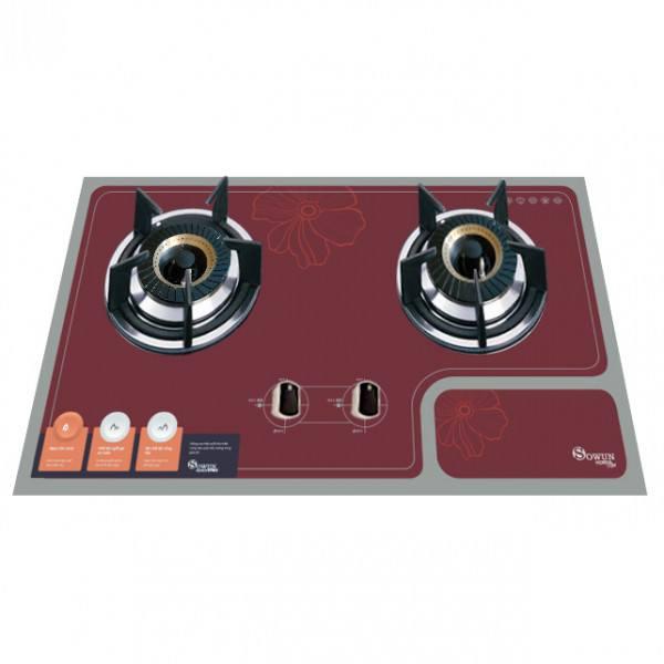 Bếp gas Sowun SW9222 đôi vùng nấu lắp đặt âm