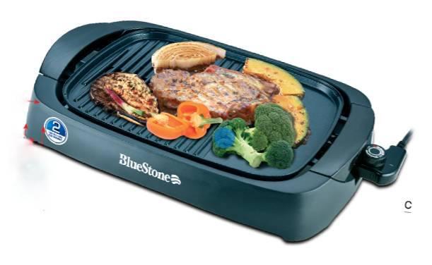 Bếp nướng điện không khói BlueStone EGB-7411 hàng chính hãng chất lượng cao, công suất 2000W, mặt nướng rộng phủ chống dính Ceramic an toàn.