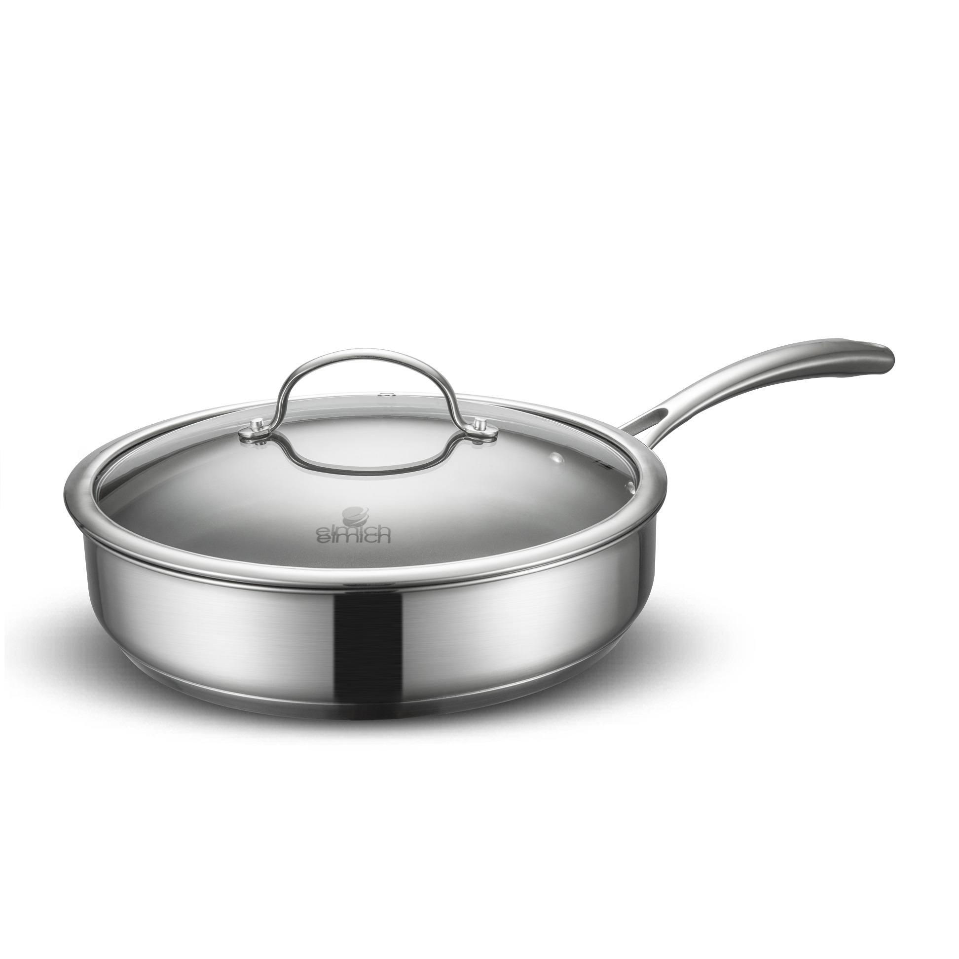 Bộ nồi chảo inox Elmich Diva EL-3246 có chảo chống dính nấu được trên mọi loại bếp