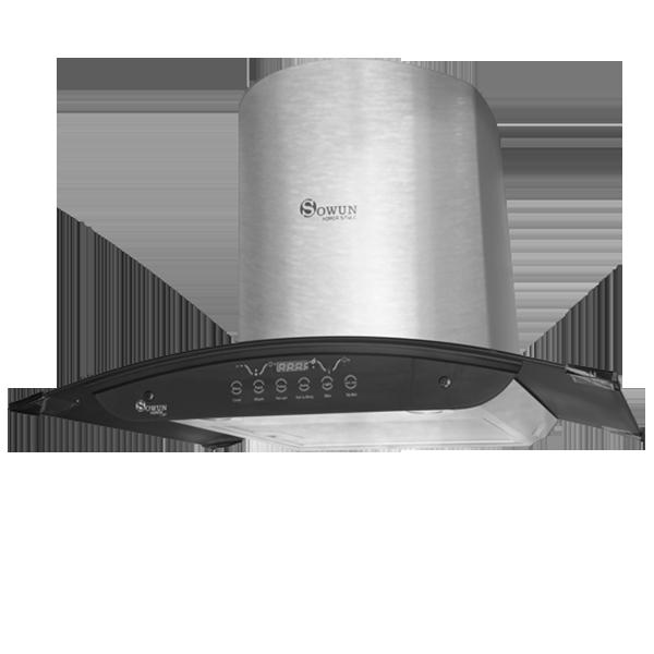 Máy hút mùi và khử mùi bếp Sowun SW 6565 kính cong