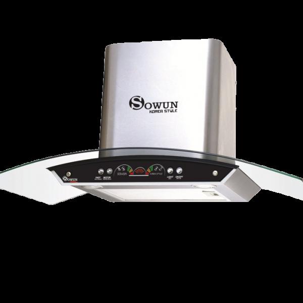 Máy hút mùi cho bếp Sowun SW6563 kính cong