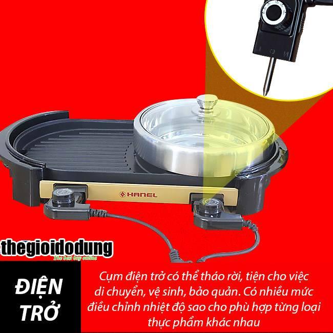 bếp lẩu nướng điện Hanel HN-CL01 2 công tắc