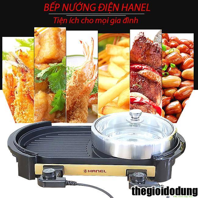 bếp lẩu nướng điện Hanel HN-CL01 nướng không khói