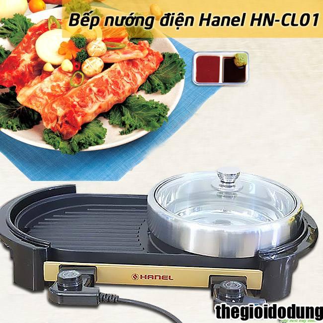 bếp lẩu nướng điện Hanel HN-CL01 lẩu nướng đa năng
