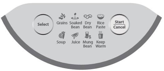 bảng điều khiển của máy làm sữa đậu nành BLueStone SMB-7326