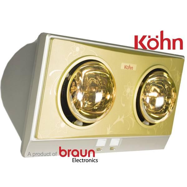 Đèn sưởi nhà tắm Kohn KC02G 2 bóng