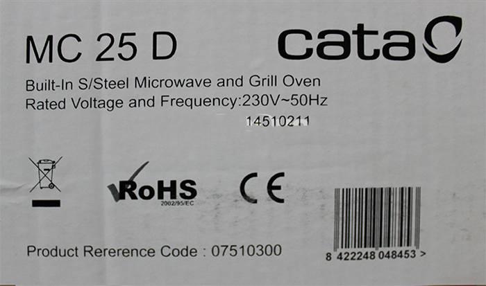 Lò vi sóng Cata MC-25D đạt đầy đủ tiêu chuẩn chất lượng sức khỏe, an toàn cho sức khỏe.
