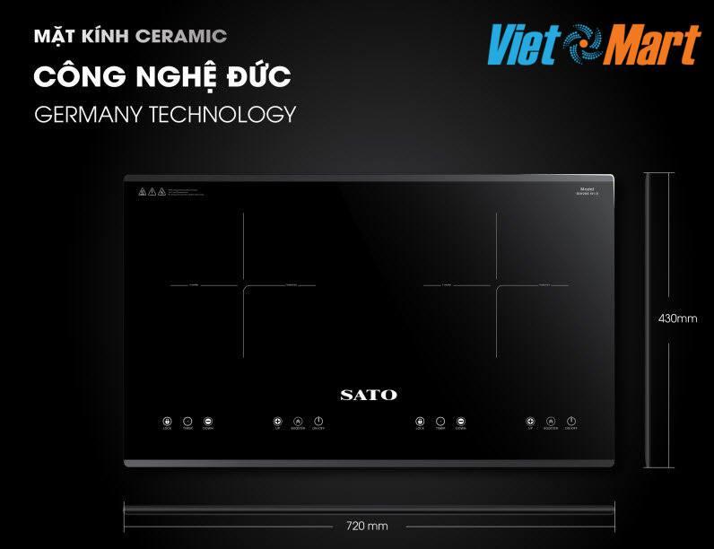 Bếp từ Sato tích hợp công nghệ Cao có chế độ nấu siêu nhanh và tiết kiệm điện