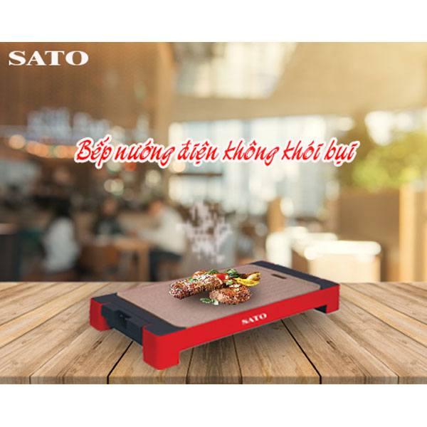 Bếp nướng điện không khói Sato ST-500NDA loại tốt