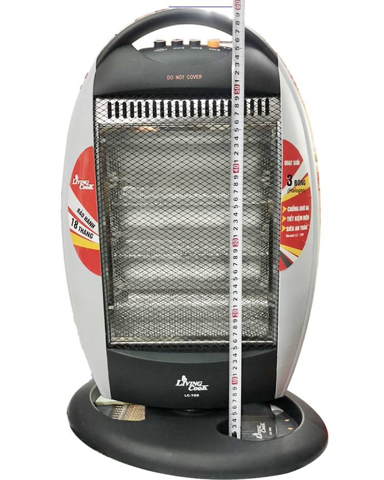 Đèn sưởi to rộng với kích thước chiều cao 60cm rộng 35cm