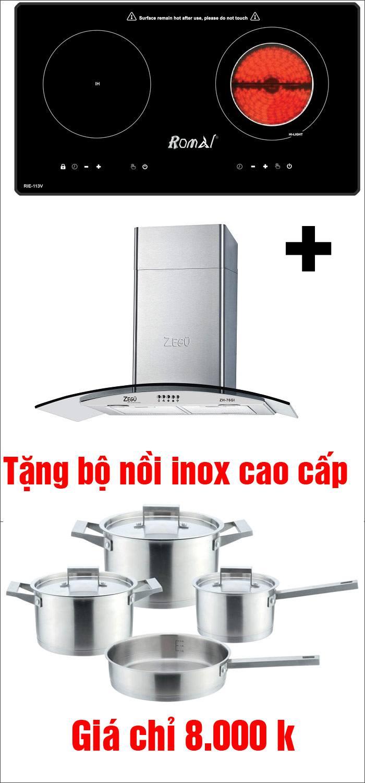 Bếp từ RIE-113V + Máy hút mùi ZH-76GI