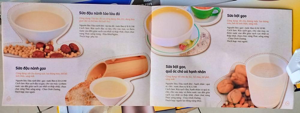 Sách hướng dẫn chế biến máy làm sữa đậu nành Bluestone SMB-7393