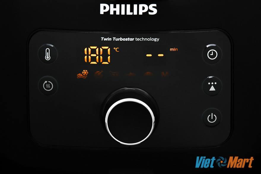 Điều khiển phím bấm điện tử có núm vặn, trên màn hình hiển thị cài đặt tùy chỉnh 5 chế độ sẵn