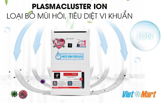 máy lọc không khí hút ẩm Sharp diệt khuẩn khử mùi diệt Virus
