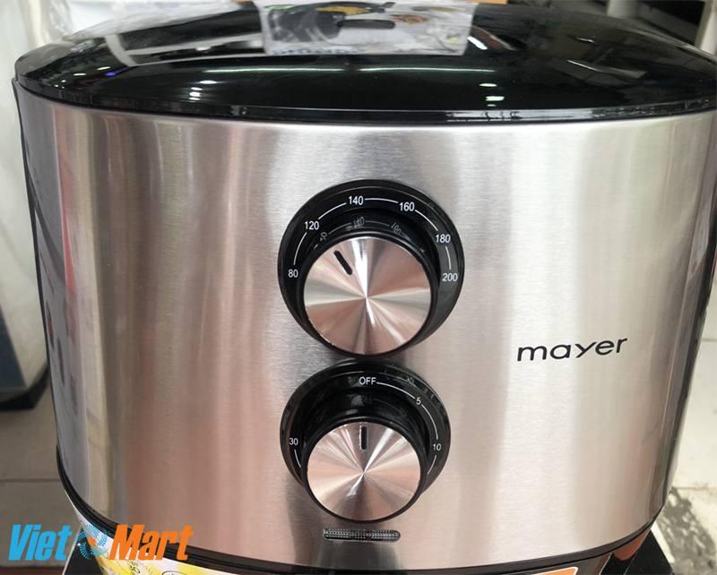 Núm vặn điều chỉnh nhiệt độ và thời gian của nồi chiên không dầu Mayer