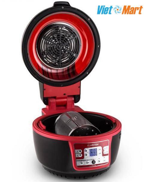 Nắp nồi lật mở dễ dàng, bên trên có tấm bảo vệ thanh nhiệt và đèn