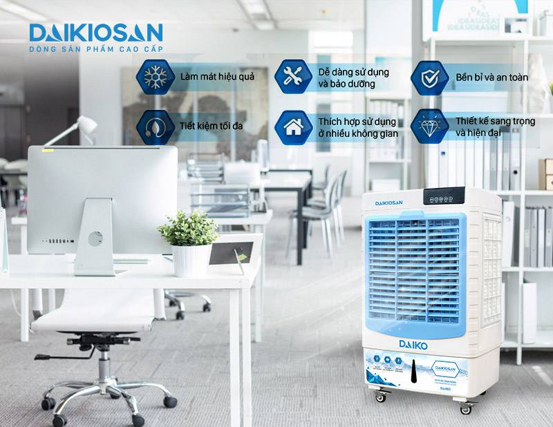 Ưu điểm của máy làm mát không khí DAIKIOSAN DKA-04500D