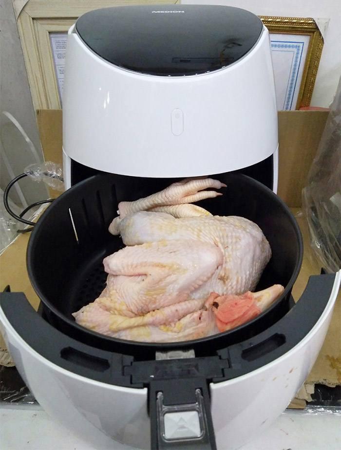 Nồi chiên Medion 5lit chiên gà nguyên con tới 1,8kg