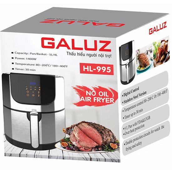 Nồi chiên không dầu Galuz HL995 điện tử 5l Nồi chiên không dầu Galuz HL995 điện tử 5l