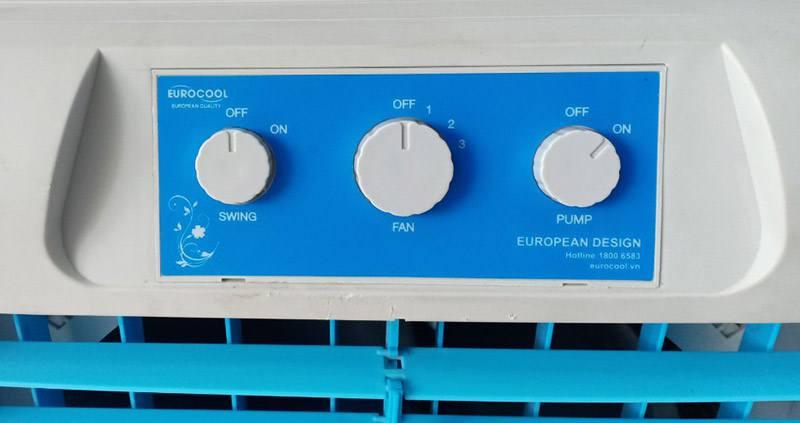 Bảng điều khiển của quạt điều hòa EuroCool Euro-5555