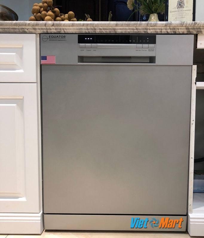 Hình ảnh thực tế máy rửa bát được lắp âm tủ