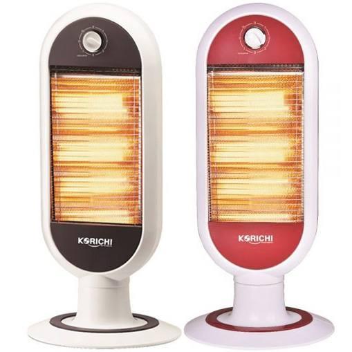 Đèn sưởi ấm Korichi 2128 2 màu ghi và đỏ khách dễ dàng lựa chọn màu theo ý