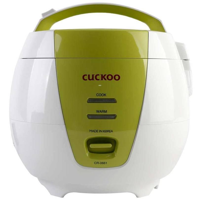 Nồi cơm Cuckoo có thêm màu xanh cho khách dễ dàng lựa chọn màu theo sở thích