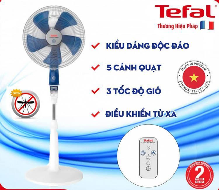 Quạt cây đứng Tefal VF6410 có chức năng đuổi muỗi
